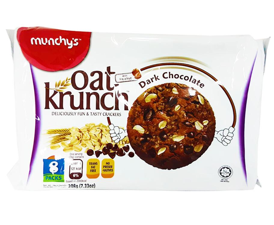 Munchy's Oat Krunch Dark Chocolate With Hazelnut 208g
