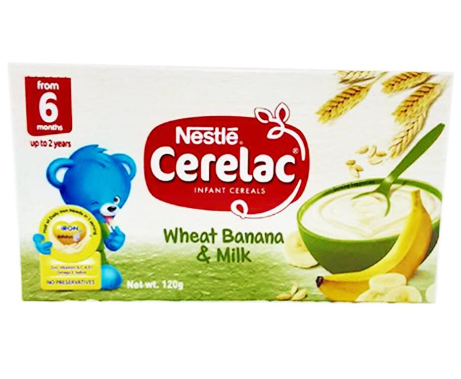 Nestlé Cerelac Infant Cereals Wheat Banana & Milk 120g