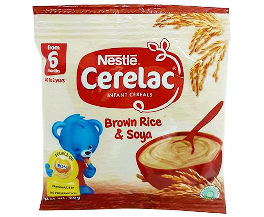 Nestlé Cerelac Infant Cereals Brown Rice & Soya 20g