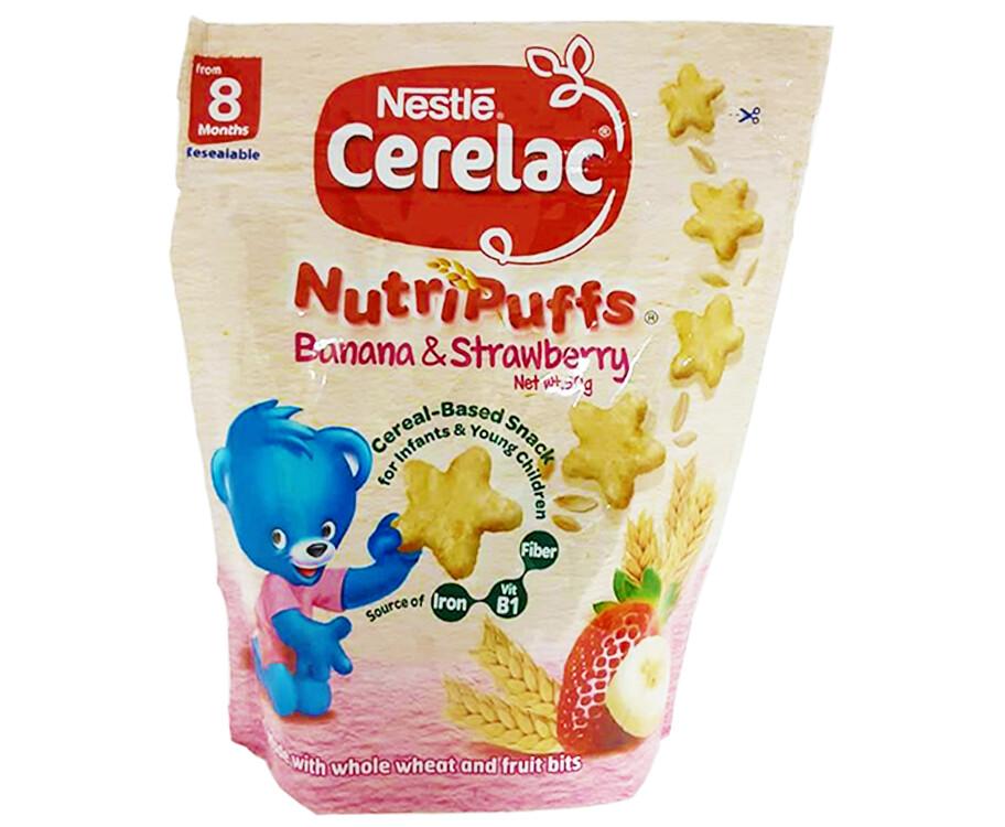 Nestlé Cerelac NutriPuffs Banana & Strawberry 50g