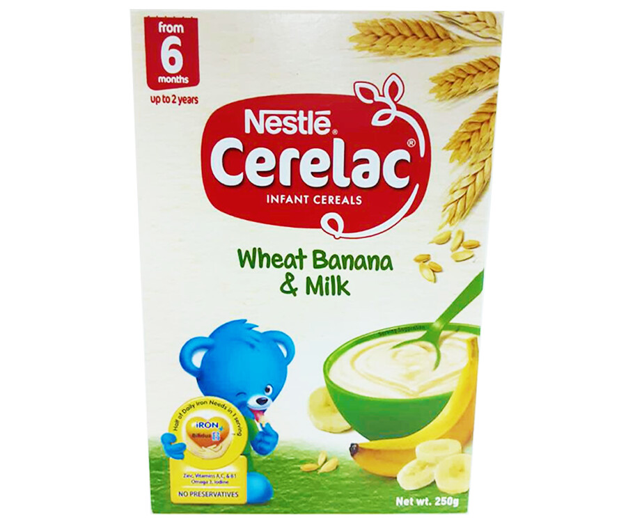 Nestlé Cerelac Infant Cereals Wheat Banana & Milk 250g