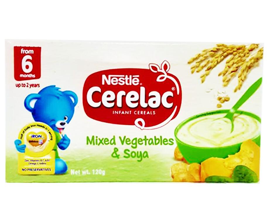 Nestlé Cerelac Infant Cereals Mixed Vegetables & Soya 120g