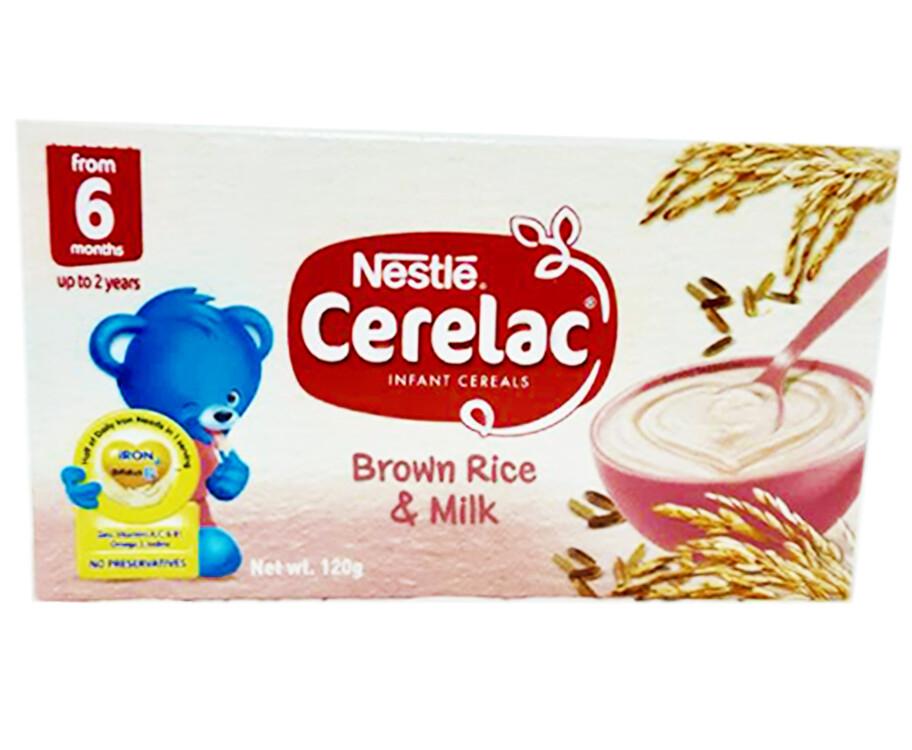 Nestlé Cerelac Infant Cereals Brown Rice & Milk 120g