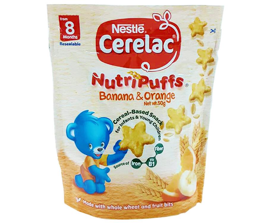 Nestlé Cerelac NutriPuffs Banana & Orange 50g