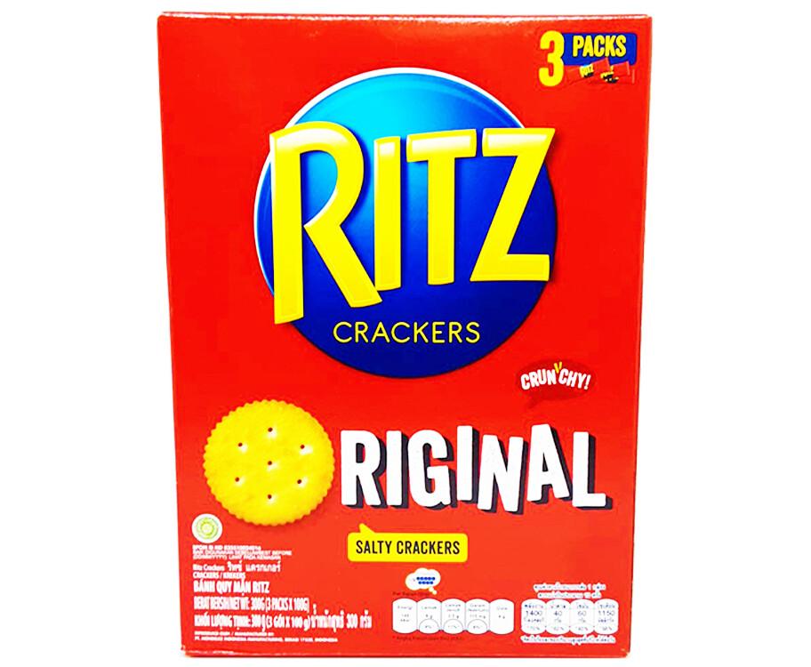 Kraft Ritz Crackers Original Salty Crackers (3 Packs x 100g)