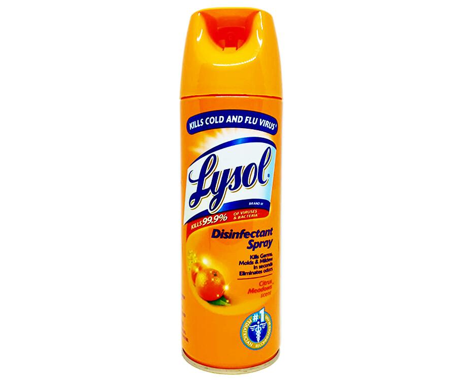 Lysol Disinfectant Spray Citrus-Meadows Scent 340g