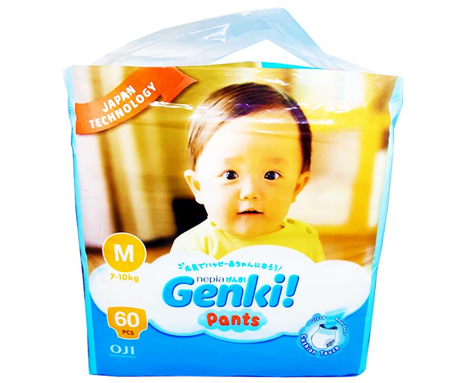 Oji Nepia Genki Pants M 7-10kg 60 Pieces