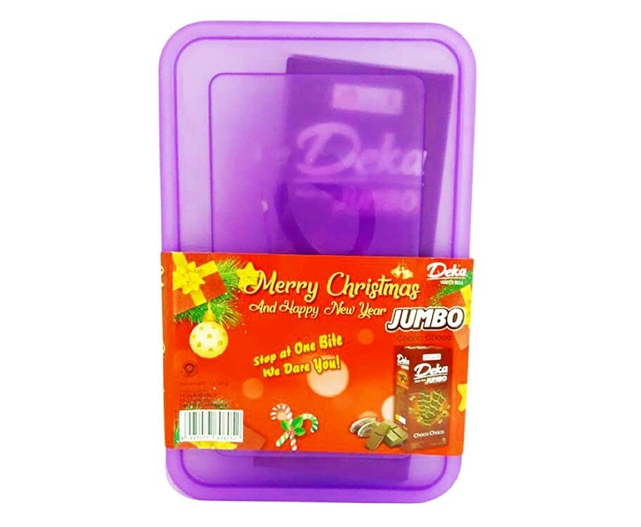 Deka Wafer Roll Jumbo + Free Food Container (2 Packs x 160g)