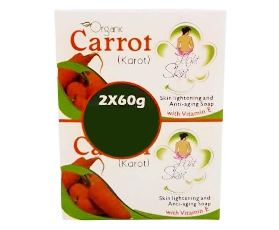 Light Skin Organic Carrot (Karot) (2 Packs x 60g)