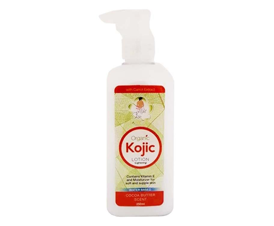 Light Skin Organic Kojic Lotion Cocoa Butter Scent 250mL