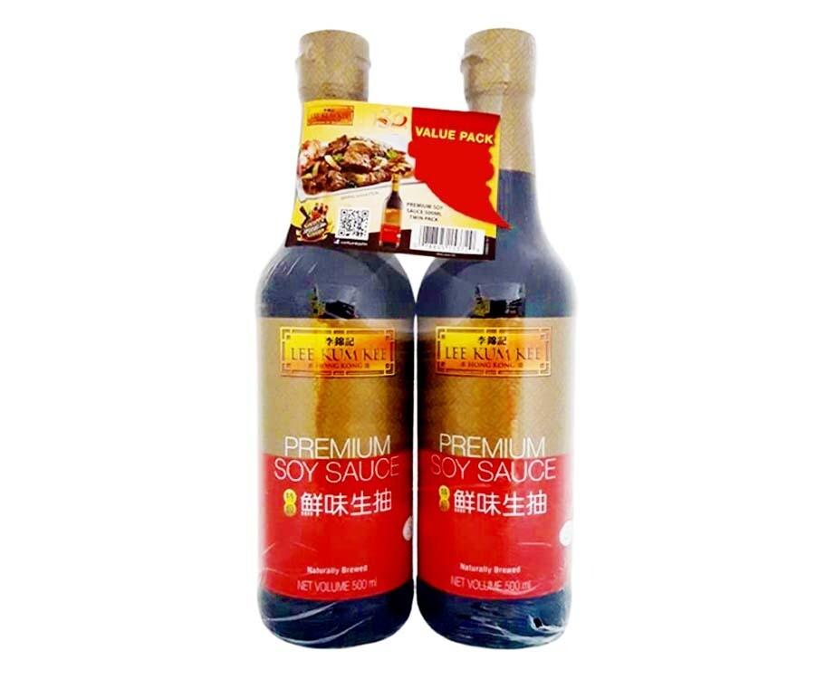 Lee Kum Kee Premium Soy Sauce Twin Pack (2 Packs x 500mL)