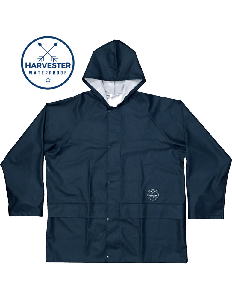 HARVESTER Waterproof Parka Navy Blue