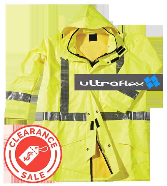 ULTRA FLEX Hi-Vis Yellow Parka & Hood