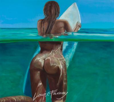 Greeting Card - Surfer Girl