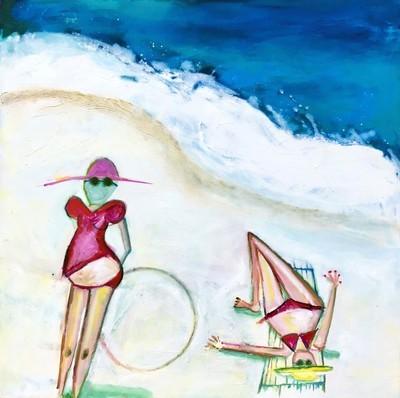 Greeting Card - City Beach Girls