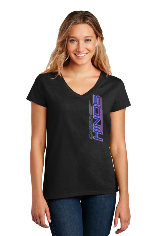 Cassidy Hinds Ladies V-Neck T-Shirt