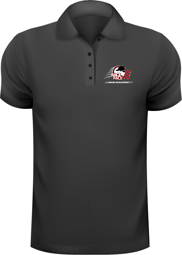 Race Face Brand Development Embroidered Polo Shirt
