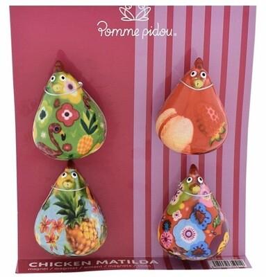 Chicken fridge magnets - Set of 4