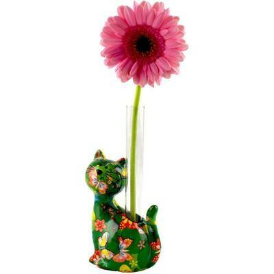 Cat single flower vase