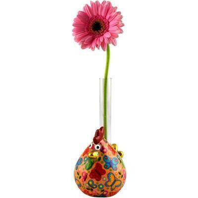 Chicken single flower vase