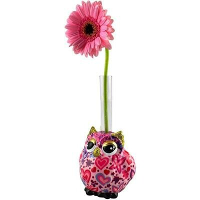 Owl single flower vase