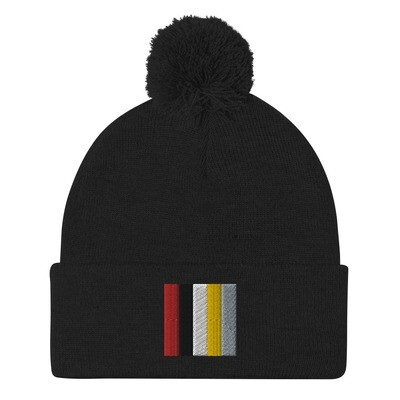 Color Block Beanie (Embroidered)