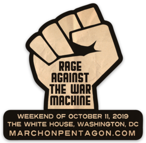 Rage Against the War Machine Die Cut Sticker