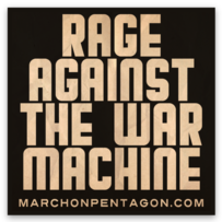 Rage Against the War Machine Square Sticker