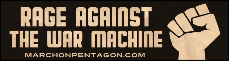 Rage Against The War Machine Bumper Sticker