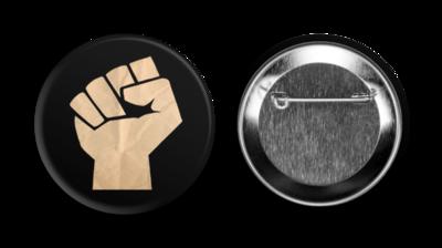 Rage Against the War Machine Fist Button