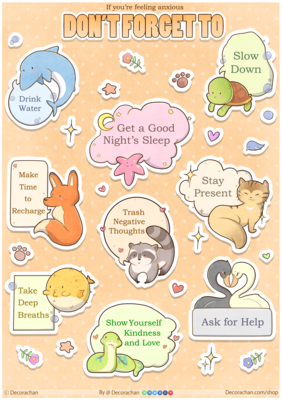 Anxiety Sticker Sheet