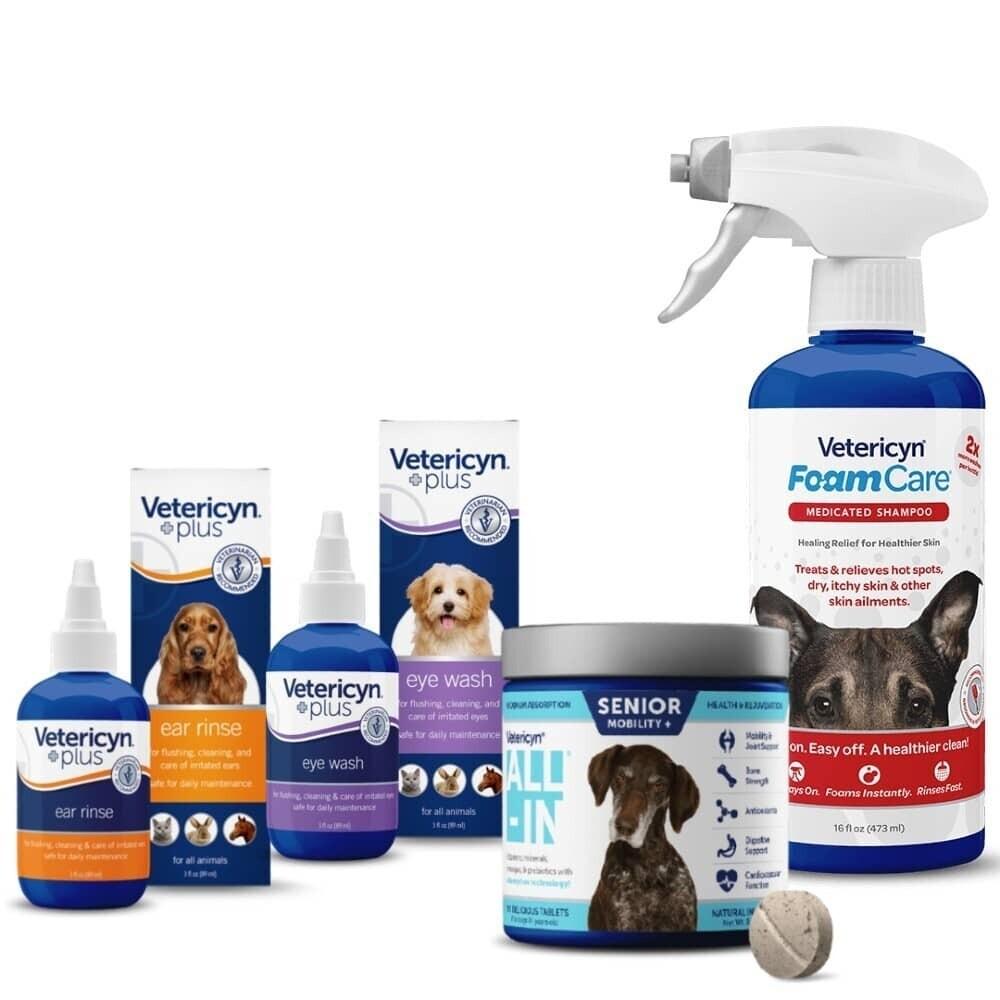 """Vetericyn """"Oudere Hond"""" Ondersteuningspakket"""