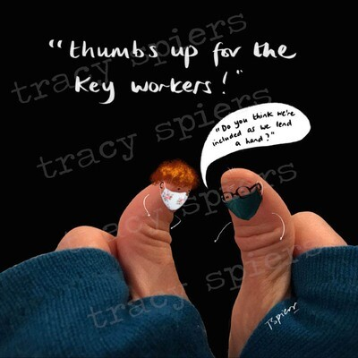 Thumbs up to key workers
