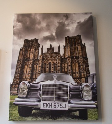 Classic Car with Wells Cathedral