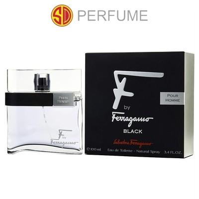 Salvatore Ferragamo F by Ferragamo Black Pour Homme EDT Men 100ml