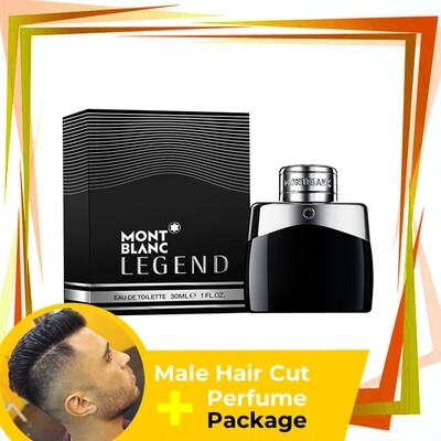 TipTop Barbershop Male Haircut Service + Perfume (Mont Blanc Legend 30ml) Package