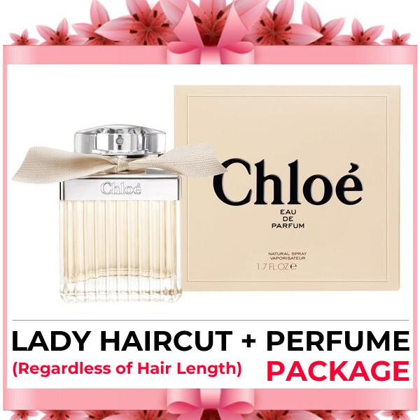 Hijabis Salon Muslimah Lady Haircut Service + Perfume (Chloe EDP 75ml) Package
