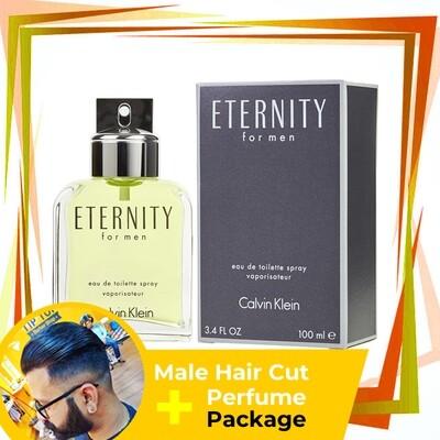 TipTop Barbershop Male Haircut Service + Perfume (cK Eternity 100ml) Package