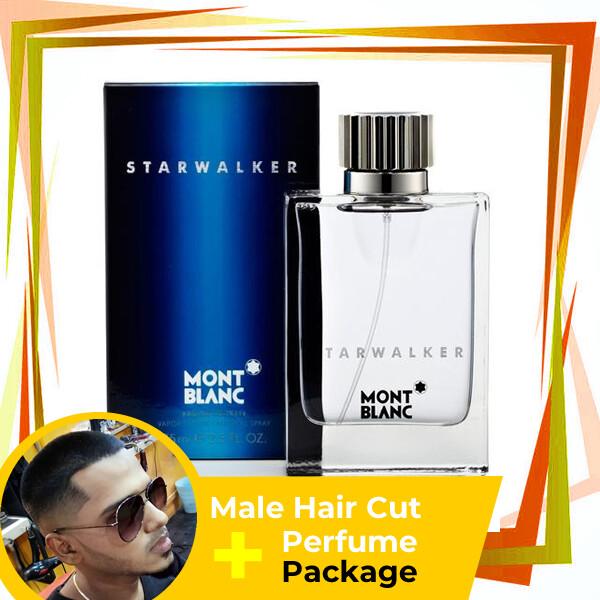 TipTop Barbershop Male Haircut Service + Perfume (Mont Blanc Starwalker 75ml) Package