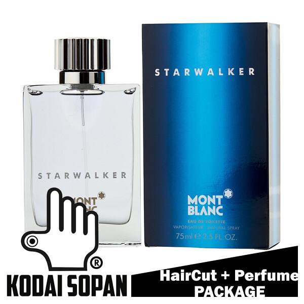 Kodai Sopan Barbershop Male Haircut Service + Perfume (Mont Blanc Starwalker 75ml) Package
