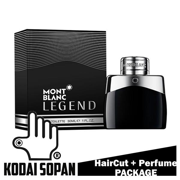 Kodai Sopan Barbershop Male Haircut Service + Perfume (Mont Blanc Legend 30ml) Package