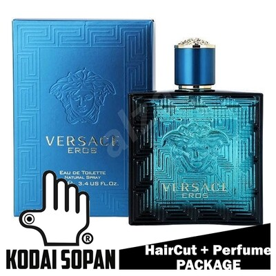 Kodai Sopan Barbershop Male Haircut Service + Perfume (Versace EROS 100ml) Package