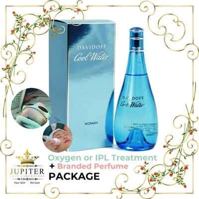 Jupiter Oxygen or IPL Treatment + Branded Perfume (Davidoff Cool Water 100ml) Package