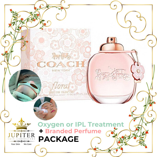 Jupiter Oxygen or IPL Treatment + Branded Perfume (Coach Floral 90ml) Package