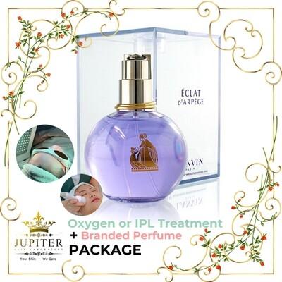 Jupiter Oxygen or IPL Treatment + Branded Perfume (Lanvin Eclat 100ml) Package
