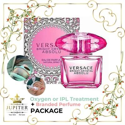 Jupiter Oxygen or IPL Treatment + Branded Perfume (Versace Bright Crystal Absolu 90ml) Package
