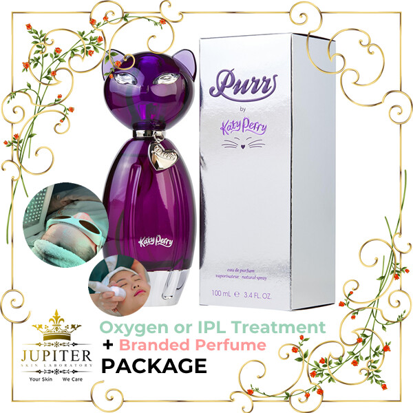 Jupiter Oxygen or IPL Treatment + Branded Perfume (Katy Perry Purr 100ml) Package