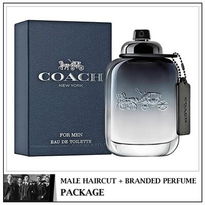 Kingsmen Barberhaüs Kulai Male Haircut Service + Perfume (Coach Men 100ml) Package