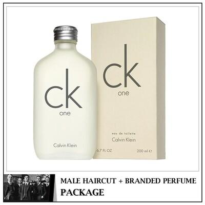 Kingsmen Barberhaüs Kulai Male Haircut Service + Perfume (cK One 200ml) Package