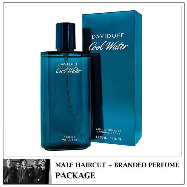Kingsmen Barberhaüs Kulai Male Haircut Service + Perfume (Davidoff Coolwater Men 125ml) Package